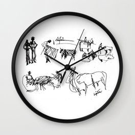 At the Bull Fight , SPAIN          by Kay Lipton Wall Clock
