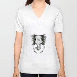 Sketch Elephant Unisex V-Neck