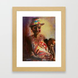 African Mother and Child Framed Art Print