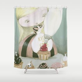 R.I.P CAKES Shower Curtain