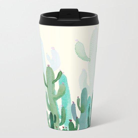 cactus world Metal Travel Mug