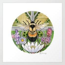 On the Brink: Rusty Patched Bumblebee Art Print