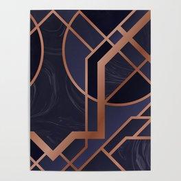 Violet Art Deco Poster