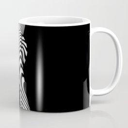0492s-MM BW Striped Nude Art Model Megan Rear View Standing Coffee Mug