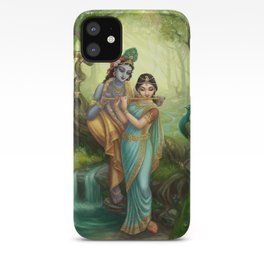 Radha Krishna playing the Flute iPhone Case