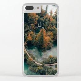 Outdoor Nature Scenery Clear iPhone Case