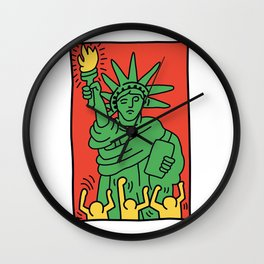 Statue of Liberty Keith Haring Wall Clock