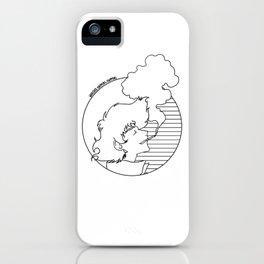 Whatever Happens, Happens (circle b&w) iPhone Case