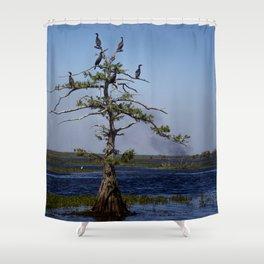 Cormorant Tree Shower Curtain