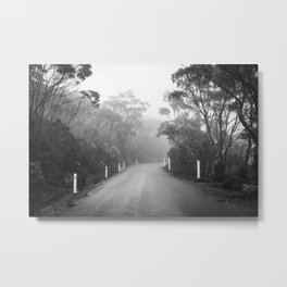 Mount Wellington Misty Road Metal Print
