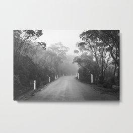 Mount Wellington Misty Road Metal Print