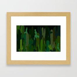 Cacti Garden Framed Art Print
