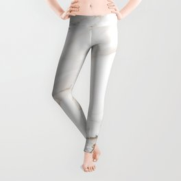 Cream White Marble Leggings