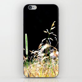 gold&black grass iPhone Skin