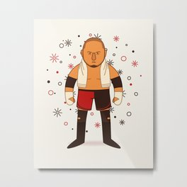 Samoa Joe - Pro Wrestling Illustration (WWE) Metal Print