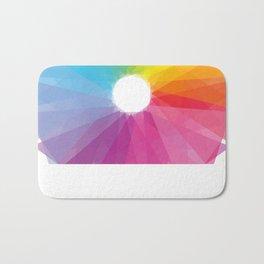 Geometric rainbow Bath Mat