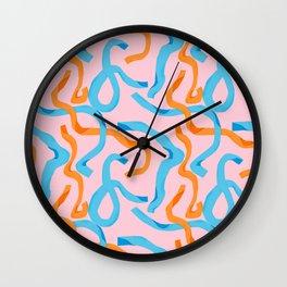 Streamers 3 Wall Clock