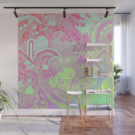 Hologram Wave Wall Mural