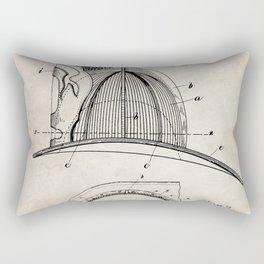 Firemans Helmet Patent - Fireman Art - Antique Rectangular Pillow