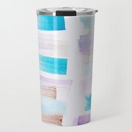 4| 181101 Watercolour Palette Abstract Art | Lines | Stripes | Travel Mug