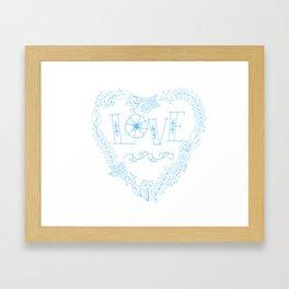 Heart of Love (Blue) Framed Art Print