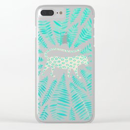 Jaguar – Turquoise & Mint Palette Clear iPhone Case