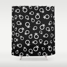 Female Venus Symbol (Black) Shower Curtain
