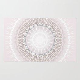 Pastel Gray Mandala Rug