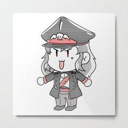 Kommissar Azura Simple Cheeb Metal Print