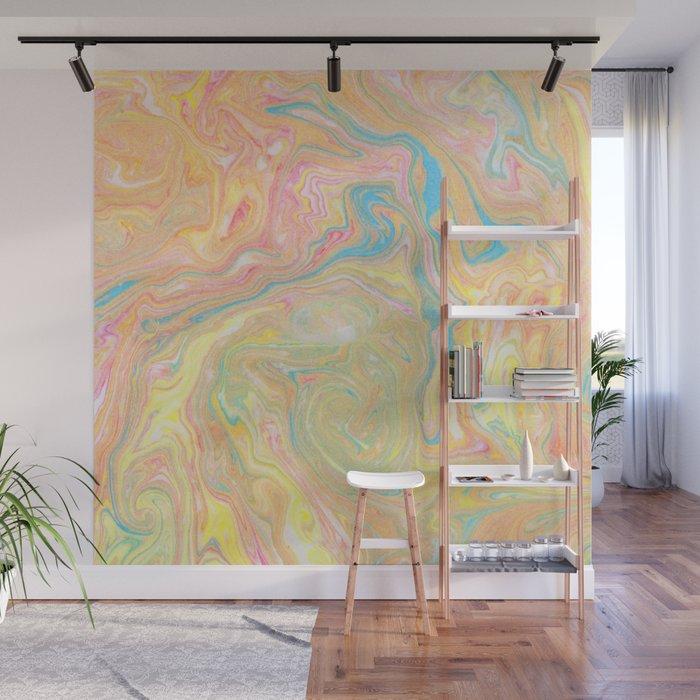 Summer Sherbet Marble Wall Mural