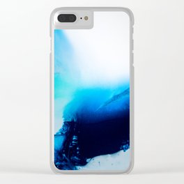 Admiral Blue #3 Clear iPhone Case