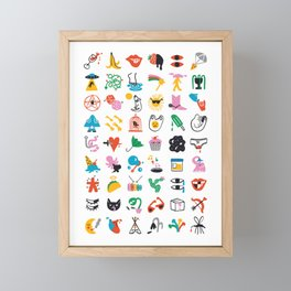 Relevant Symbols Framed Mini Art Print