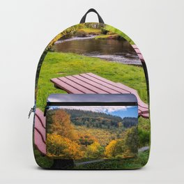 Snowdonia River Autumn Backpack