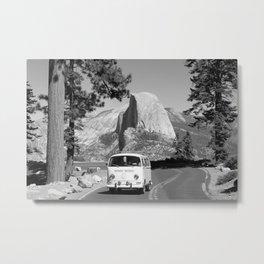 Yosemite Vanlife (Black & White) Series Metal Print