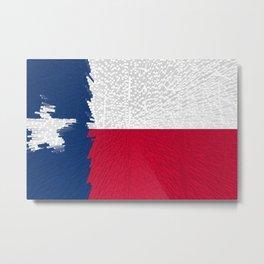 Extruded flag of Texas Metal Print