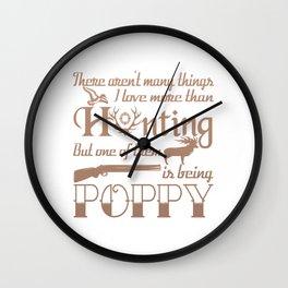 Hunting Poppy Wall Clock