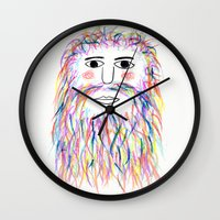 wizard Wall Clocks featuring Wizard by Simbo