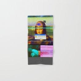 Mona Lisa _corrupt Hand & Bath Towel