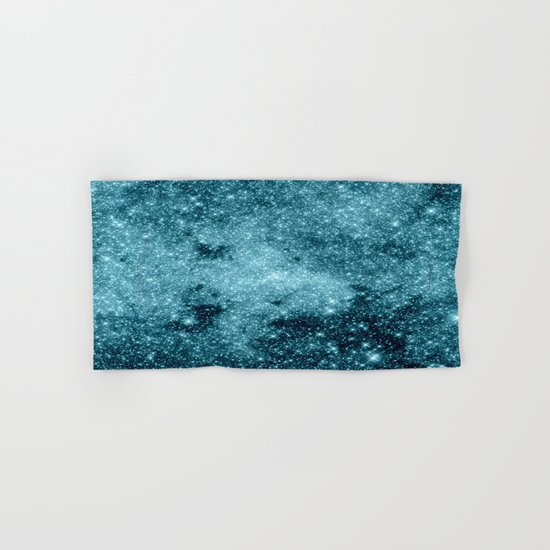 Teal Galaxy STars Hand & Bath Towel