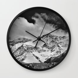 """Wild mountains"". Wilderness. Into the storm Wall Clock"