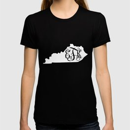 State of Kentucky Monogram University of Kentucky University of Kentucky basketball T-shirt