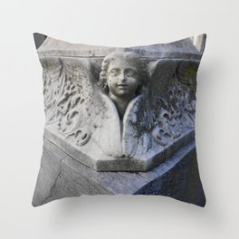 Angelic Disaster Throw Pillow