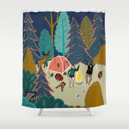 Welcome to Our Place in the Woods Shower Curtain