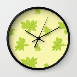 Scattered Dessert Leaves Wall Clock