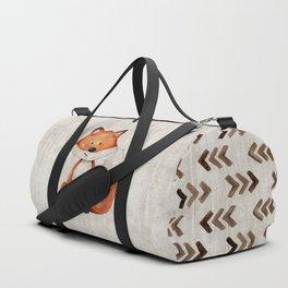 Little Fox, Baby Fox, Baby Animals, Forest Critters, Woodland Animals, Nursery Art Duffle Bag