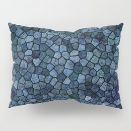 Blue Lagoon Midnight Rippled Water Abstract Pillow Sham