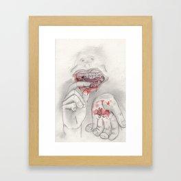Falling Teeth Framed Art Print