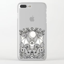 A Bat's Favorite Things Clear iPhone Case