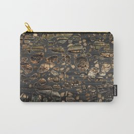 Terrazzo - Mosaic - Wooden texture and gold #5 Carry-All Pouch