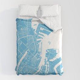 Copenhagen map blue Comforters
